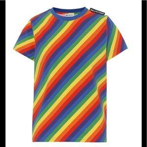 Balenciaga Striped Stretch T-Shirt